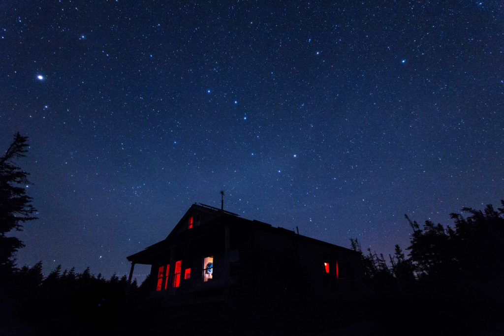 Galehead hut night_